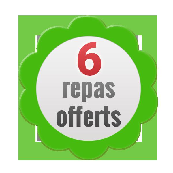 6 repas offerts