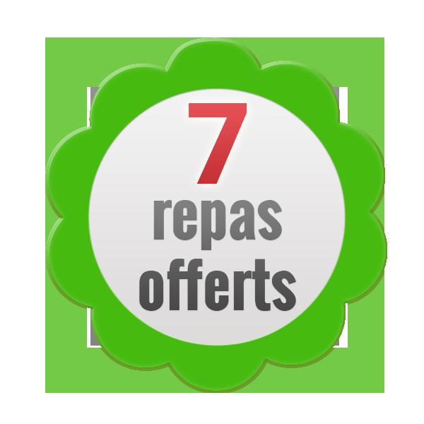 7 repas offerts