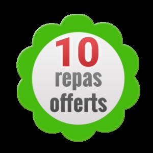 10 repas offerts
