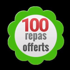 100 repas offerts